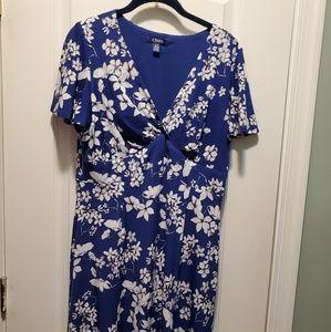 Chaps Blue empire waist dress